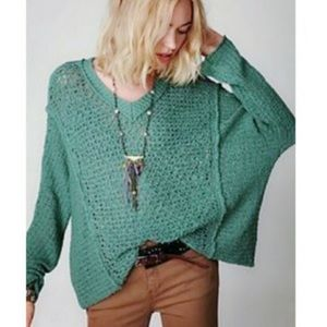 Free People Laguna Coast Green Pullover Size MD